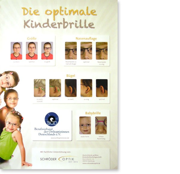 "Poster ""Die optimale Kinderbrille"""