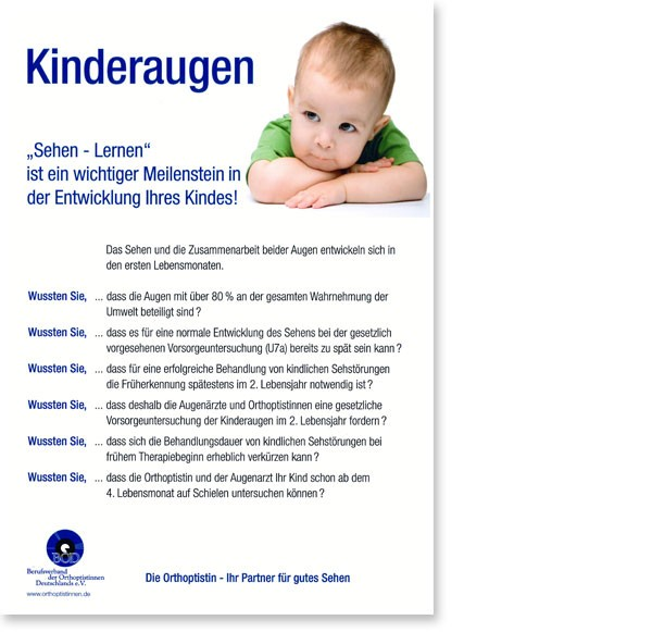 """Poster """"Kinderaugen"""" DinA4"""